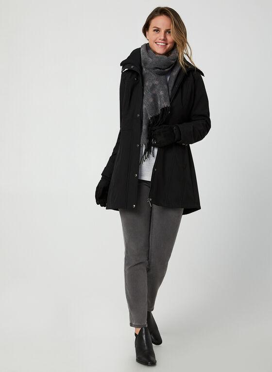 Weatherproof - Manteau court à col côtelé , Noir