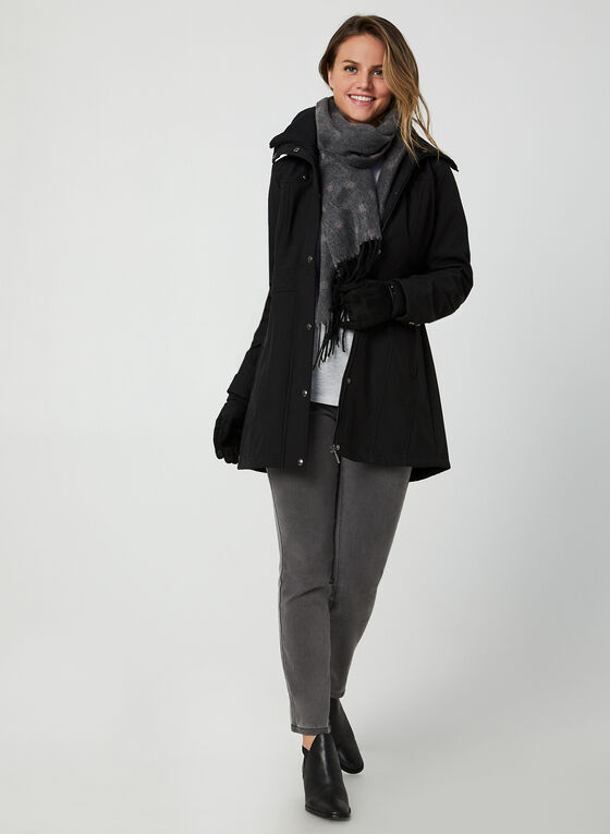 Weatherproof - Hooded Short Coat, Black