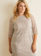 Lace And Sequin Shift Dress , Grey