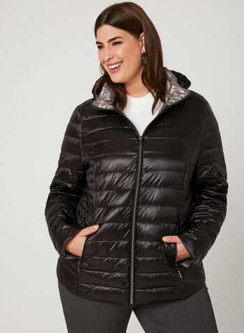 Nuage - Packable Down Coat , Black, hi-res