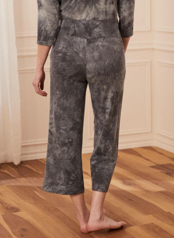 Tie Dye Print Pants, Black