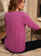 Metallic Floral Print T-Shirt, Purple