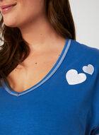 Bellina - Contrast Stitch Pyjama Set, Blue, hi-res