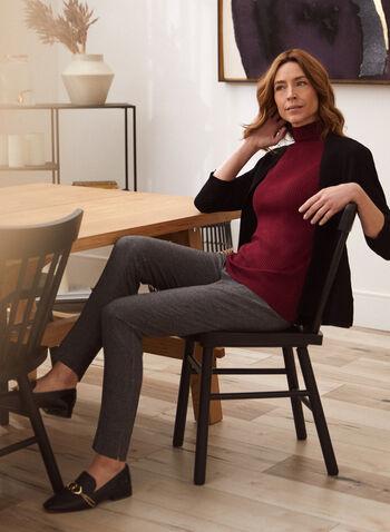 Tartan Print Modern Fit Pants, Brown,  pants, modern, straight, tartan, pleats, fall winter 2020