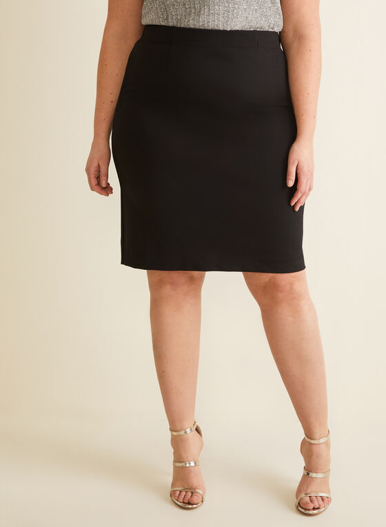 Ponte de Roma Straight Skirt, Black