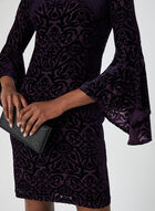 Burnout Velvet Dress, Purple, hi-res