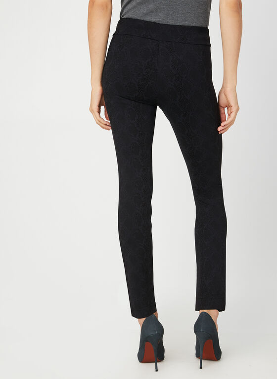 Pantalon pull-on coupe moderne, Noir