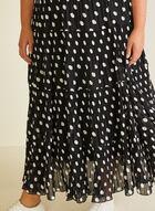 Alison Sheri - Jupe paysanne en mousseline, Noir