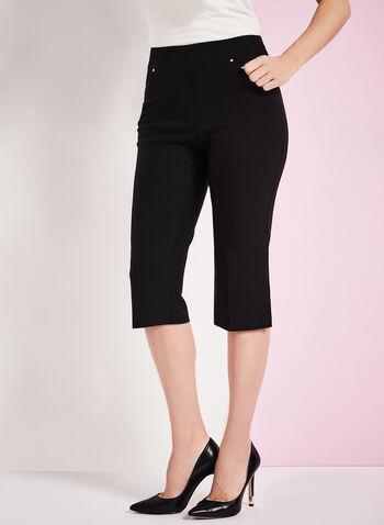 Capri coupe moderne à jambe droite, Noir, hi-res