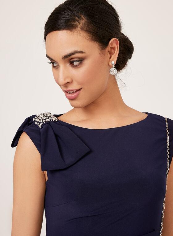 Jessica Howard - Robe fourreau avec détail nœud et strass , Bleu, hi-res