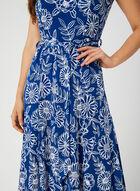Nina Leonard - Floral Puff Print Dress, Blue, hi-res