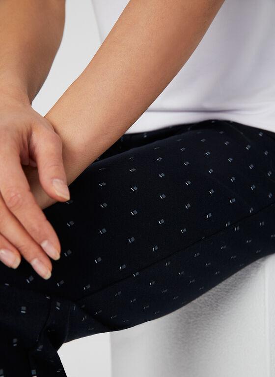 Pantalon coupe moderne motif œil-de-perdrix, Bleu