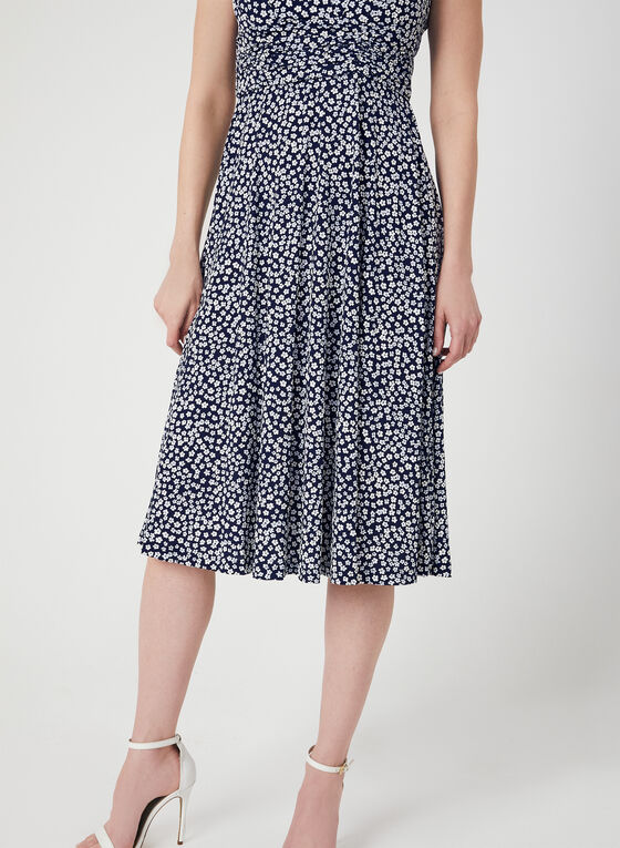 Jessica Howard - Textured Floral Print Dress, Blue