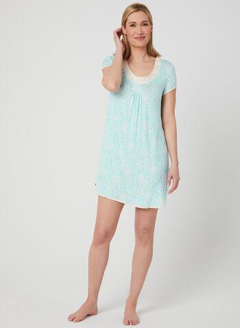 René Rofé - Paisley Print Nightgown , Blue, hi-res,  Spring 2019, nightgown