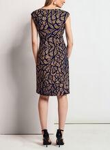 Faux Wrap Jersey Dress, Blue, hi-res