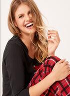 Pillow Talk - Christmas Cotton Pajama Set , Black, hi-res