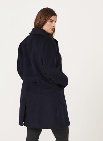 Marcona - Manteau de laine avec col en fausse fourrure, , hi-res