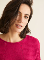 3/4 Dolman Sleeve Knit Sweater, Pink
