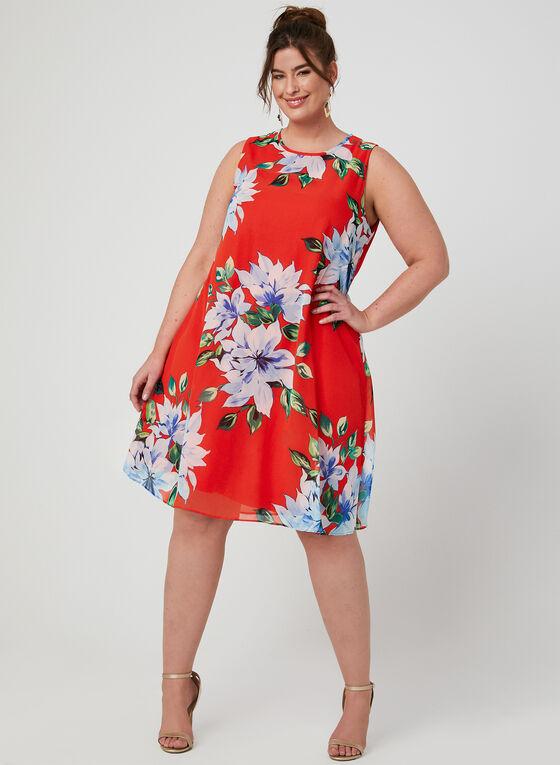 Jessica Howard - Robe trapèze fleurie, Orange, hi-res