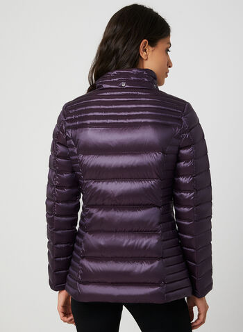 Packable Quilted Down Coat, Purple, hi-res,