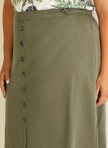 Button Detail Tencel Skirt, Green,  skirt, tencel, button details, straight, pull-on, spring summer 2020