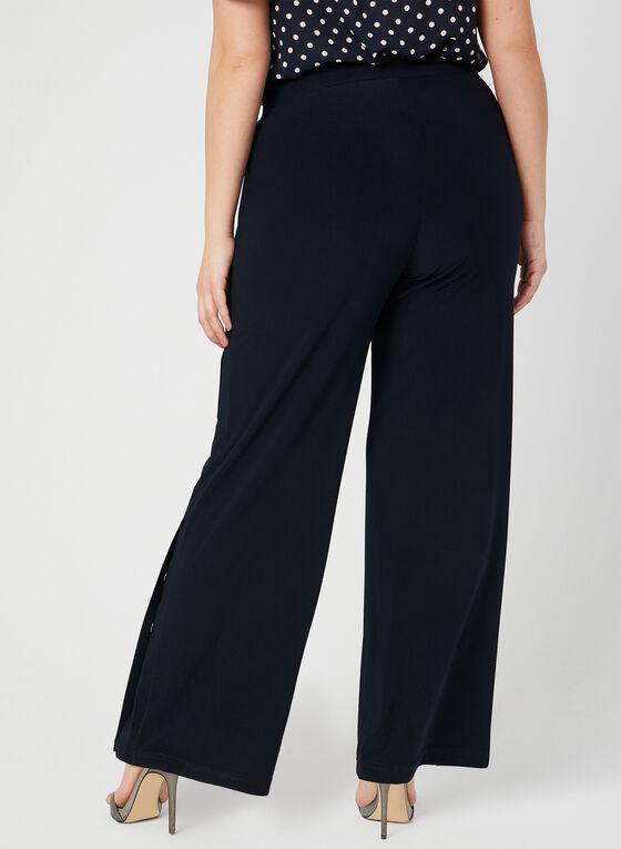 Modern Fit Wide Leg Pants, Blue