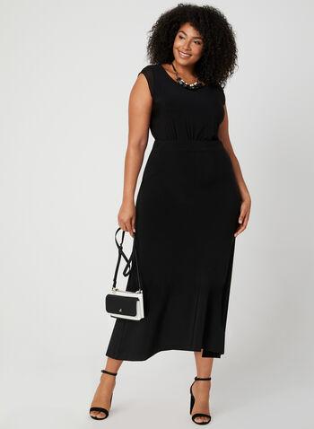 Long Maxi Skirt, Black, hi-res