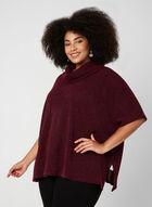 Haut en tricot style poncho, Rouge, hi-res