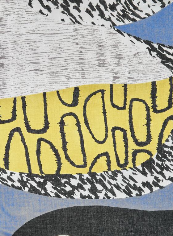 Foulard léger à motif abstrait, Multi