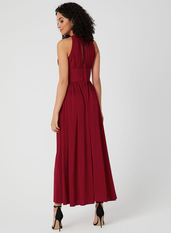 Beaded Jersey Dress, Red, hi-res