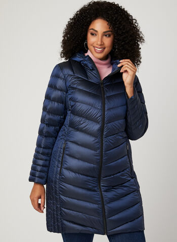 BCBGeneration – 3 Season Packable Down Coat, Blue, hi-res