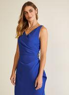 Wrap Evening Dress, Blue