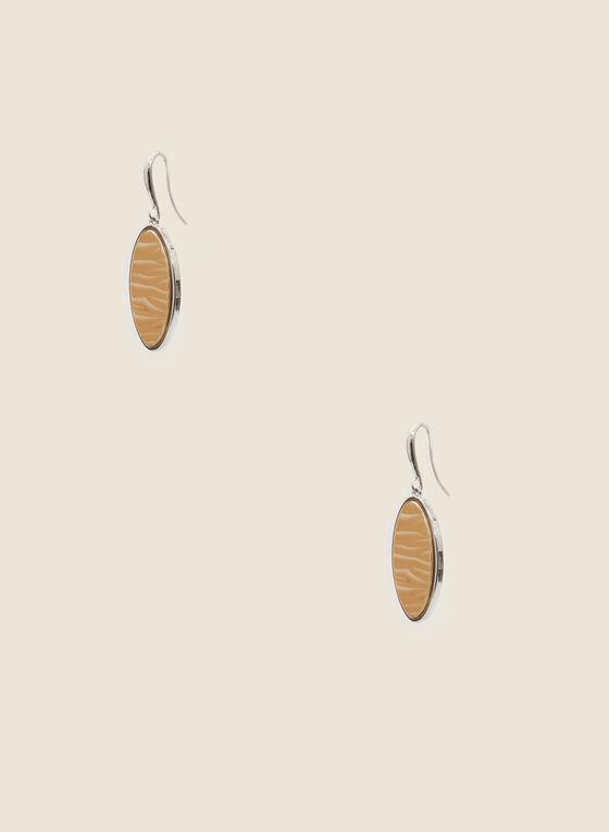 Boucles d'oreilles ovales à deux tons, Jaune