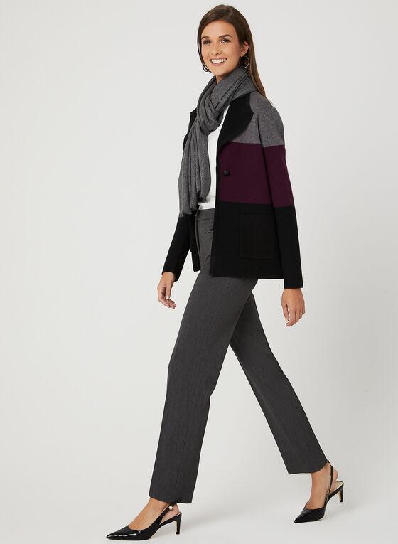 Colour Block Cardigan, Black