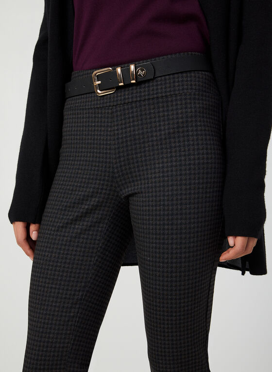 Pantalon coupe cité motif pied-de-poule , Noir
