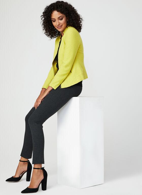 Wool Blend Cropped Jacket, Green, hi-res