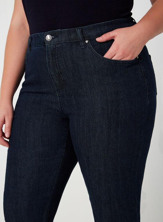 Simon Chang - Jeans coupe signature à jambe droite, Bleu, hi-res