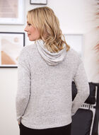 Long Sleeve Hooded Knit Sweater, Off White