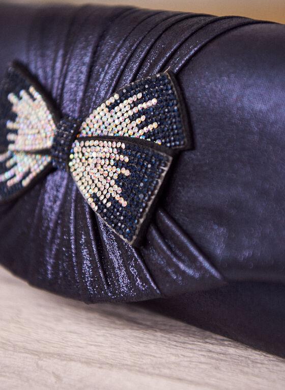 Bow Detail Envelope Clutch, Blue