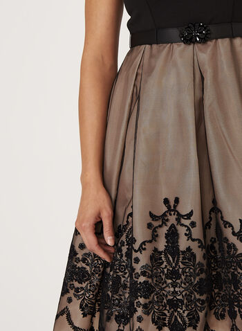 Lace Detail Fit & Flare Dress , , hi-res