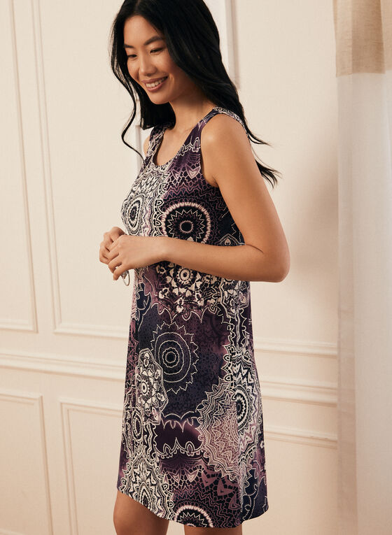 Dress & Cardigan Set , Purple