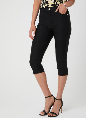 Simon Chang - Signature Fit Slim Leg Capri Pants, Black, hi-res