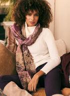 Foulard à motif floral en jacquard , Violet