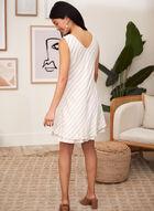 Charlie B - Striped Linen Blend Dress, Beige