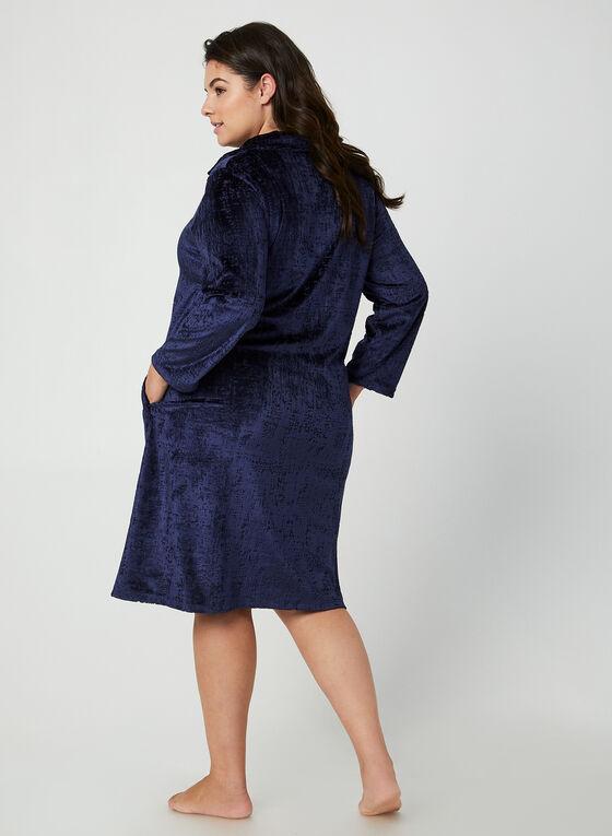 Hamilton - Velour Nightgown, Blue, hi-res