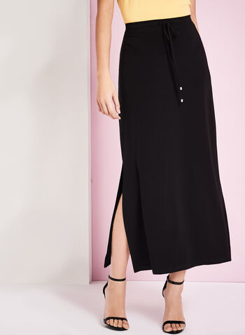 Side Slit Detail Maxi Skirt, , hi-res