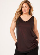 Sleeveless Jersey Glitter Top, Red, hi-res