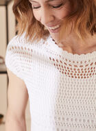 Crochet Sweater With Tank, White