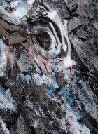 Foulard oblong à motif abstrait, Gris, hi-res