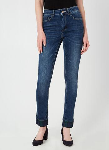 Charlie B - Jeans coupe moderne, Bleu, hi-res,  automne hiver 2019, jeans, denim, jambe étroite, coupe moderne, Charlie B, tartan, carreaux